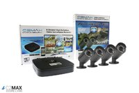 C2Max 8CH 1TB DVR and 4 x  Fixed IR Black Bullet Cameras with cable and PSU