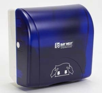 BAY WEST ACCENT TOWEL DISPENSER BLUE