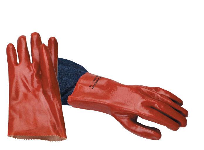 "REDBACK PVC Open Wrist Glove 11"" (28 cm) (Pair)"