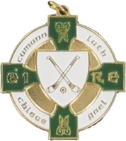 34mm Hurling Medal - Gold / Green