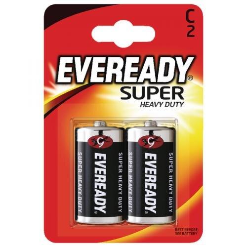 EVEREADY SUPER HEAVY DUTY BATTERY C CARD 2