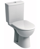 SONAS E100 SQUARE CLOSE COUPLED WC W368 X H775 X D670 MM WITH CISTERN AND S/C SEAT