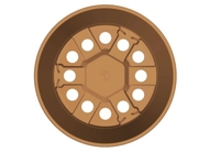 Teku MPB6 Round Pot 7° Injection Moulded 6cm - Terracotta