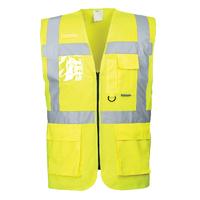 Portwest Berlin Executive Vest Hi-Vis Yellow