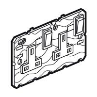 Arteor 2 Gang 13Amp Socket (Neon) - White  | LV0501.0762
