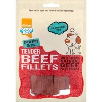 Good Boy Pawsley & Co. Dog Treats - Tender Beef Fillets 90g x 10