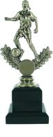 21cm Soccer Trophy on Black Pedestal (F) | TC