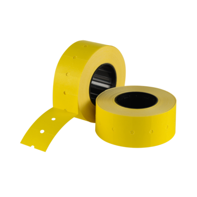 LYNX CT1 21x12mm Labels - Yellow Removable (Box 50k)