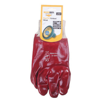 Kingfisher Red Rubber Glove Knit Wrist - GGHDRR (GGHDRR)