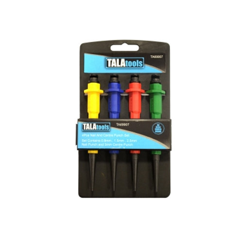 Tala 4pc Nail & Centre Punch set