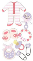 Baby Girl Large Essential Craft Sticker. (Priced in singles, order in multiples of 6)