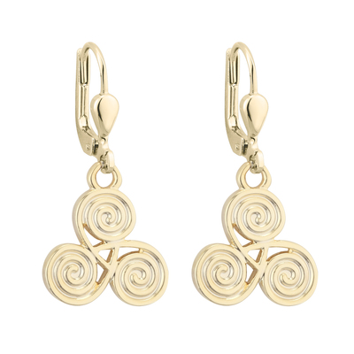 RHODIUM SPIRAL DROP EARRINGS