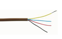 Alarm Cable. 4 Core 7/0.19mm Brown