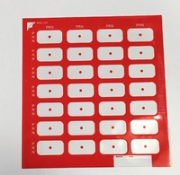 CNR02 SEALS FOR MONTHLY CLEAR PACK RED (PK 50)