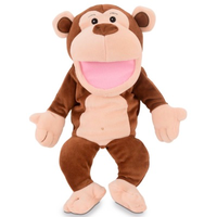 Monkey hand puppet - you can make him talk by moving his mouth