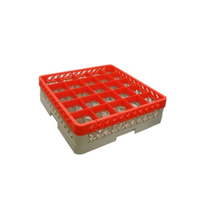 Glass Rack 25 Compartment with 1 Red Extender