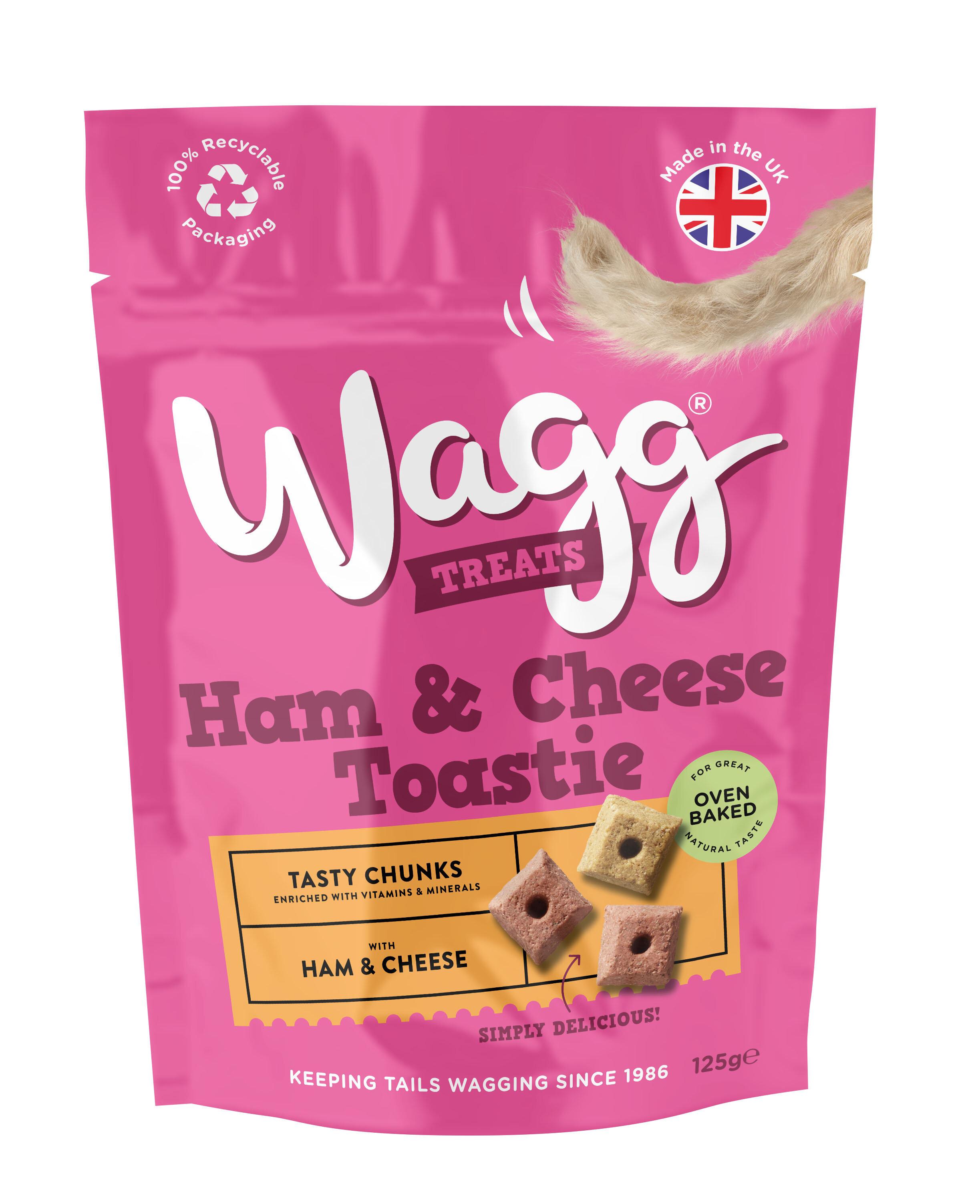 Wagg Dog Treats Ham & Cheese Toastie 125g x 7