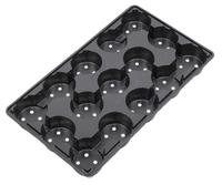 Aeroplas Carry Trays for 10.5cm Round 5° Pots 15 per Tray - Blac