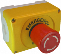 EMERGENCY STOP STATION YLW/BLK