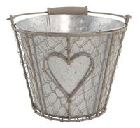 Iron Basket Round with Tin Pot 19cm