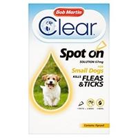 Bob Martin Flea-Clear Spot-On Small Dog Flea Drops 1 Tube x 1