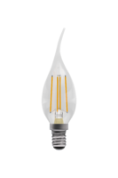 Bell 05033 LED 4W Filament Bent Tip Candle Clear Dim SES WW