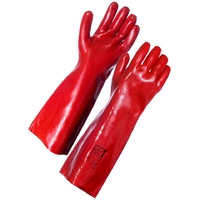 Supertouch PVC Dip Gauntlet, 45 cm, Red