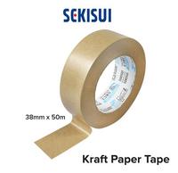"""1.5"""" Semisui Kraft Paper Tape Brown 50 Metres"""