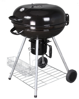 56cm Charcoal Kettle BBQ Black With Shelf