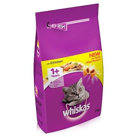 Whiskas Dry 1+ Chicken Cat Food 2kg