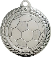 40mm Soccer Ball Medal (Silver)