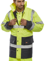 Two Tone Hi Visibility Traffic Jacket EN471 Yellow