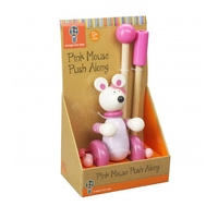 Boxed Push Along Pink Mouse.