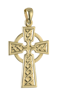 14K LARGE CELTIC CROSS CHARM