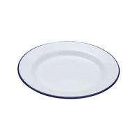Falcon 20cm Enamel Dinner Plate, white