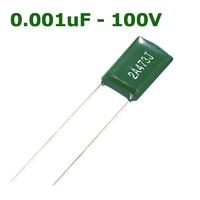 0.001uF - 100V | MYLAR FILM CAPACITOR 0.001UF 100V +/- 5% BULK ROHS