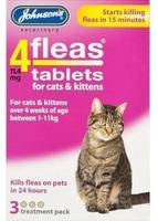 Johnson's 4-Fleas Cat & Kitten Flea Tablets - 3 Treatment x 1