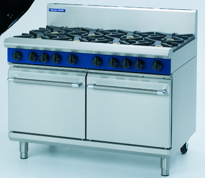 Blue Seal 8 Burner Gas Oven Range Double Oven 1200x812x1085