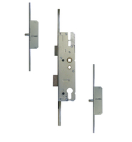KFV LEVER OPERATED LATCH & DEADBOLT 45MM - 2 ROUND BOLT
