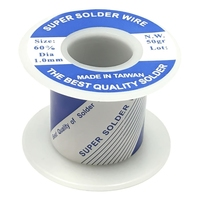 SOLDER WIRE | 60/40 ROSIN CORE 1mm - 50GR | 1/8