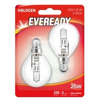 EVEREADY 20W (25W) E14 HALOGEN GOLF BALL LAMP