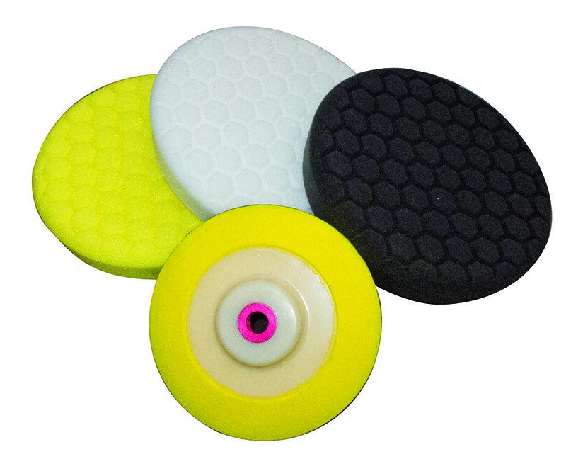203mm yellow hex polish pad
