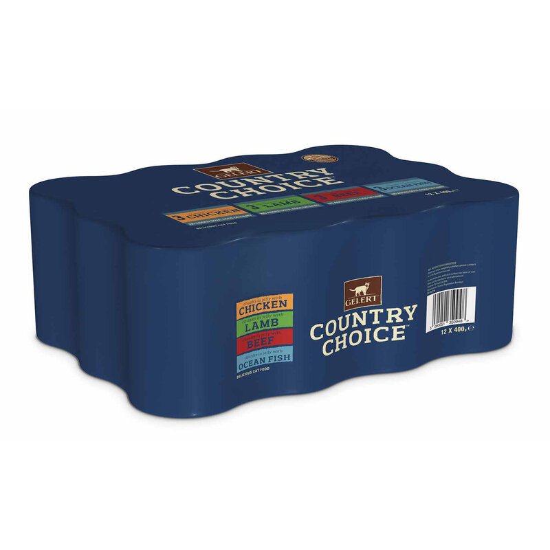 Gelert Country Choice Adult Cat Variety in Jelly Cat Food 12 x 400g