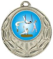 45mm Silver Zamac Wreath Medal