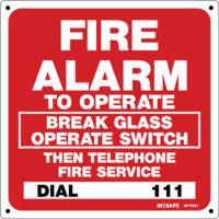 FIRE Alarm - To Operate Break Glass