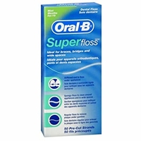 ORAL B SUPER FLOSS PK 6  UNWAXED MINT