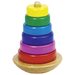 Rainbow coloured toddler stacking game