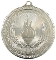 50mm Silver Victory Torch Medal