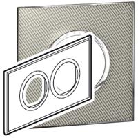 Arteor (British Standard) Plate 2x2 Module 2 Gang Round Woven Metal | LV0501.2720