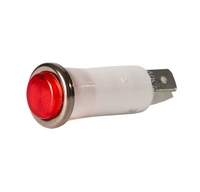 RED NEON PUSH-IN INDICATOR LIGHT
